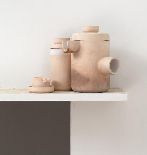 Shane Powers white clay vessels
