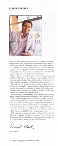 Vogue Living Editors Letter