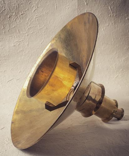 Goetz Hagmueller hand-beaten brass lampshade