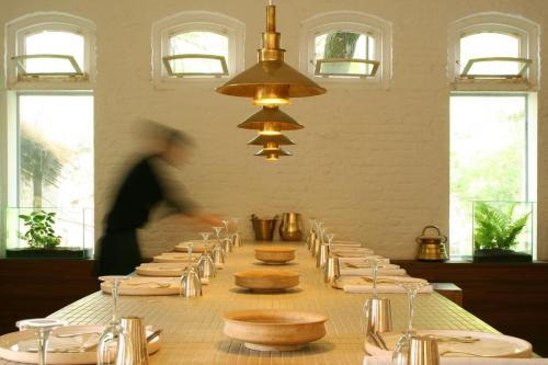 Goetz Hagmueller hand-beaten brass lampshades