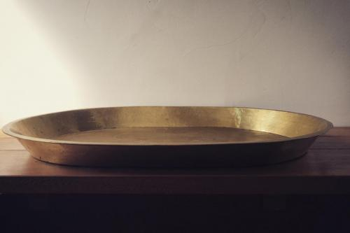 Goetz Hagmueller hand-beaten brass tray
